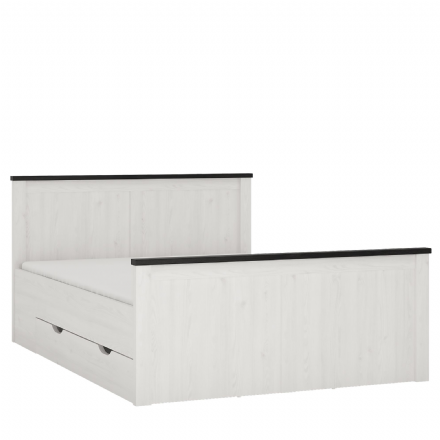 Provence Double bed with storage drawers
